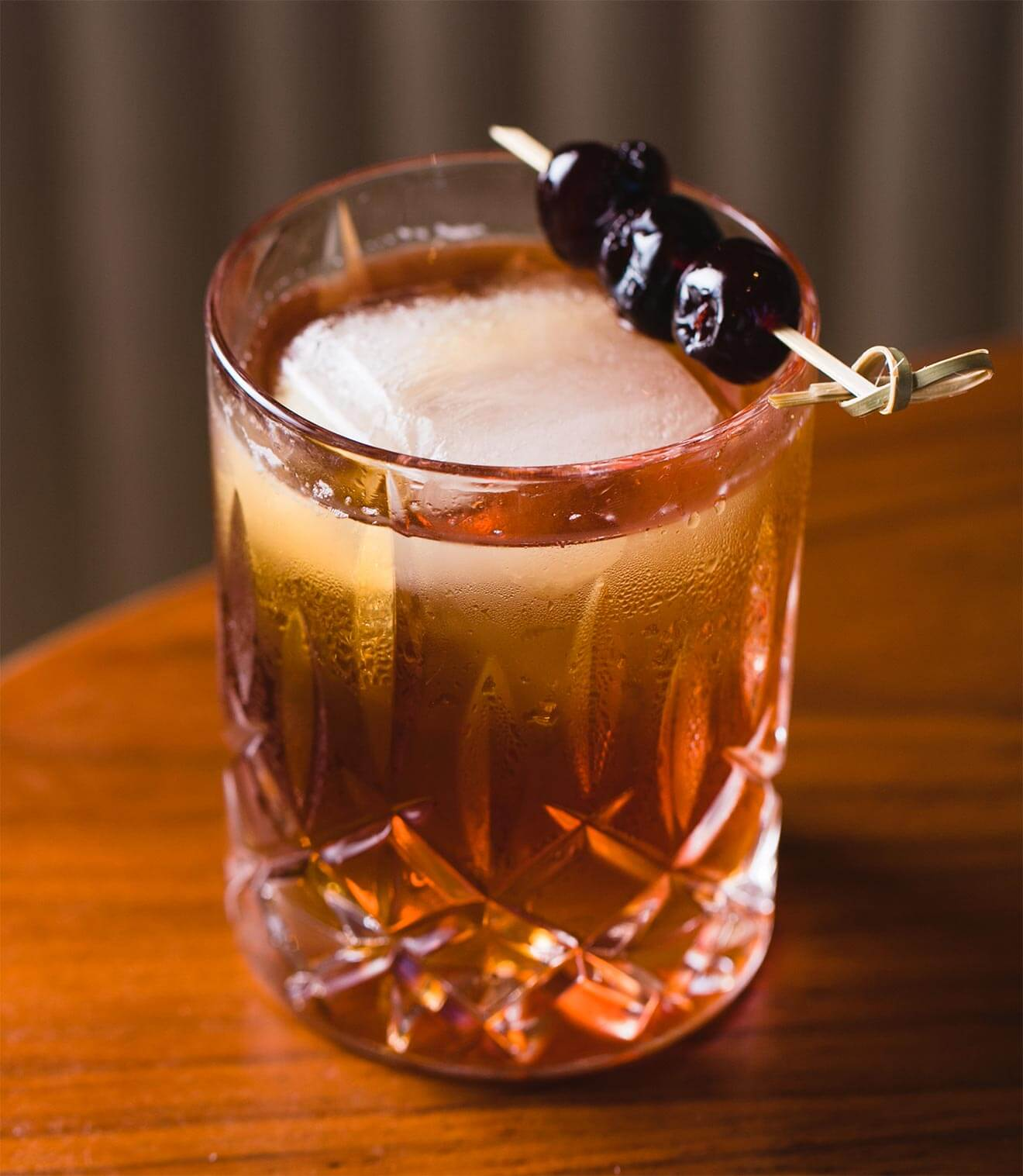 Journey Into Night cocktail with garnish