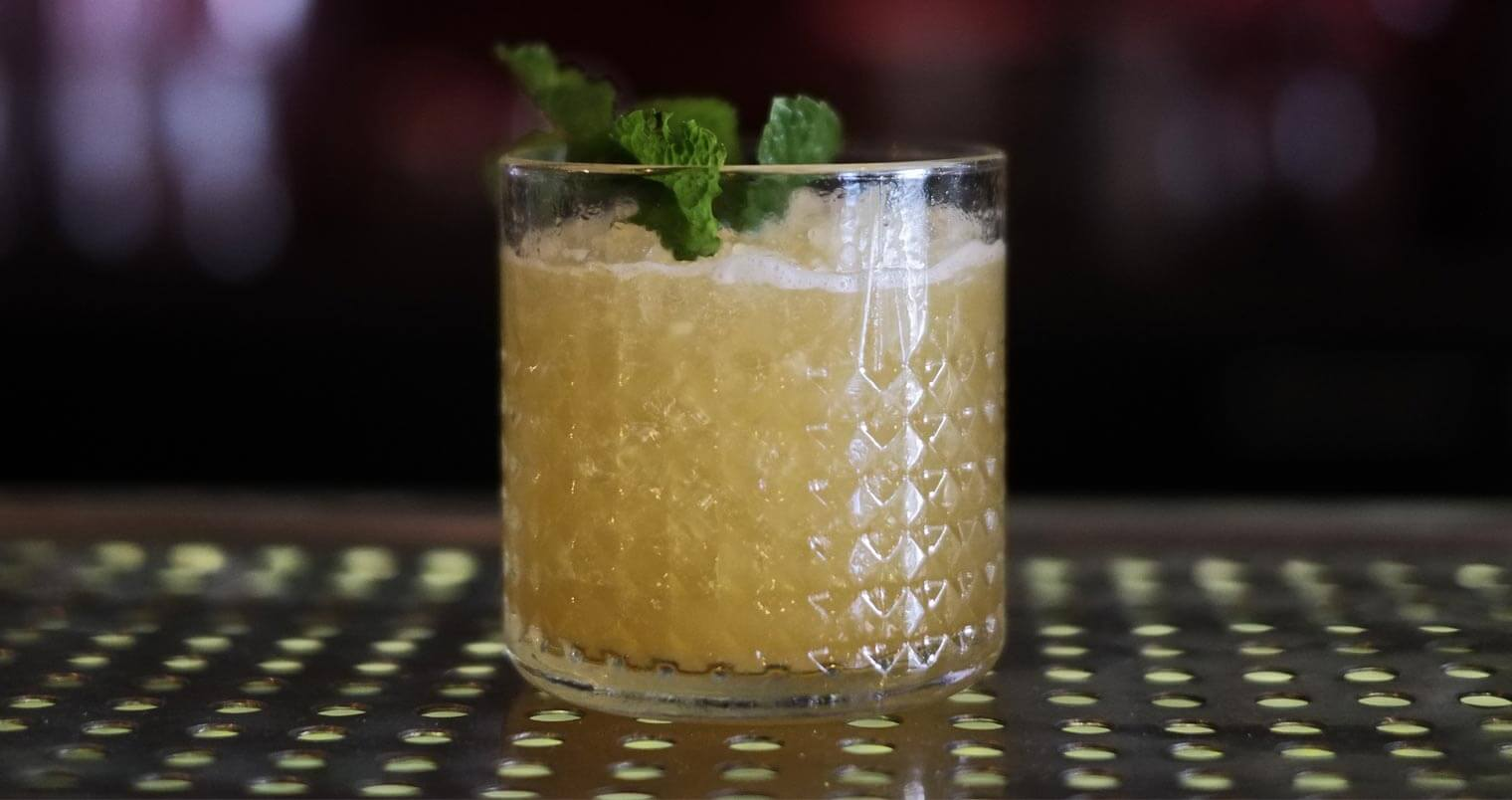 mai tai cocktail with garnish