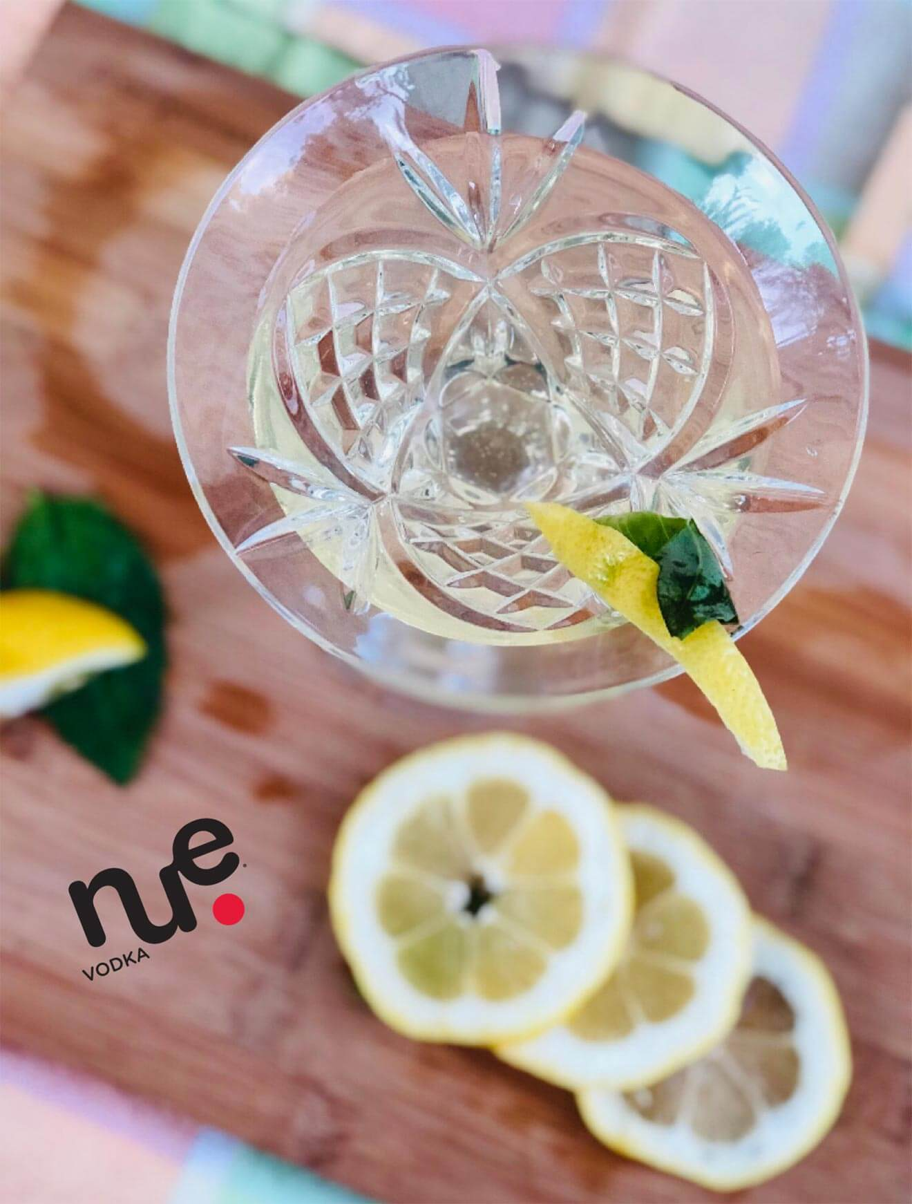 NUE Basil Lemon Drop Martini