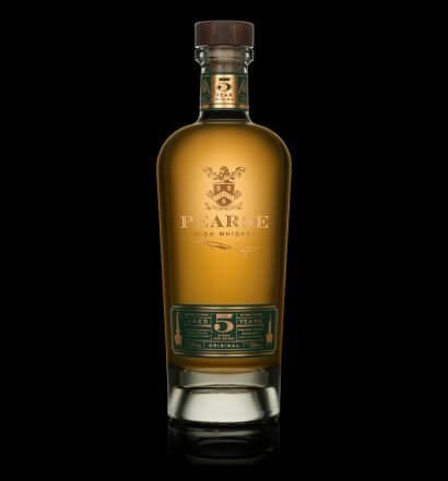 Pearse Lyons Five-Year-Old Single Malt, bottle on black background, featured image