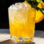 Summer Crush cocktail with garnish, featured image