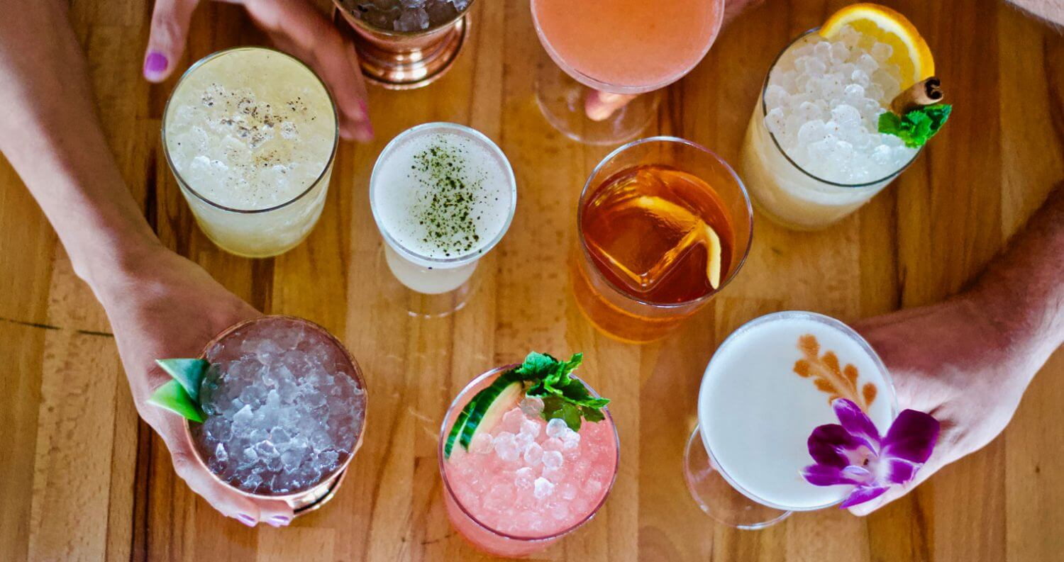 Sweet Liberty cocktails overhead view, featured image