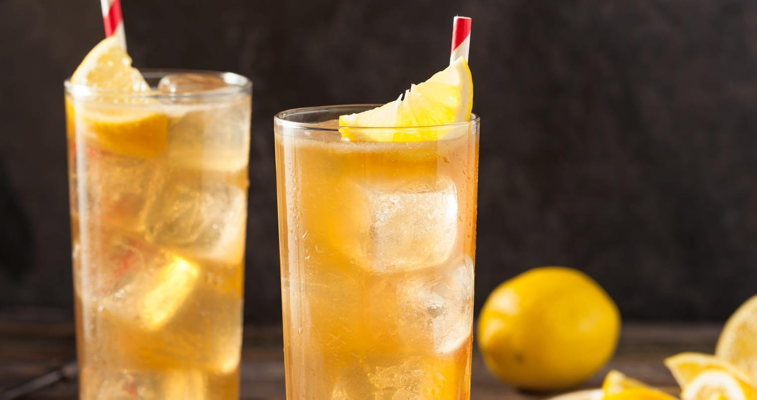 long island iced tea, cocktails with lemon garnish, featured image