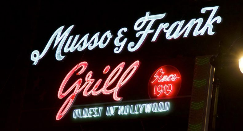 Musso & Frank Grill, outdoor neon sign, featured image