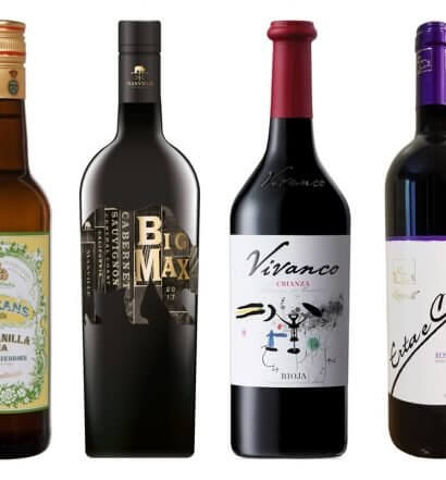 Wines to Serve at a Spanish Restaurant, bottles on white, featured image