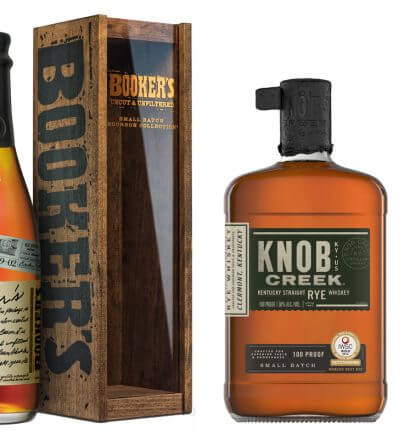 Whiskies for Father's Day, bottles and packaging on white, featured image