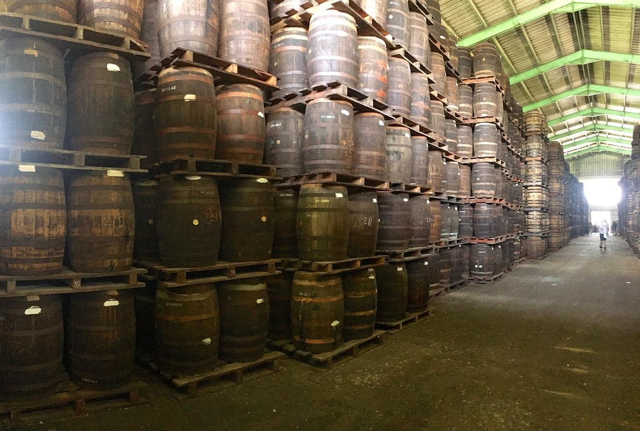 Barrel Aging at Foursquare Distillery
