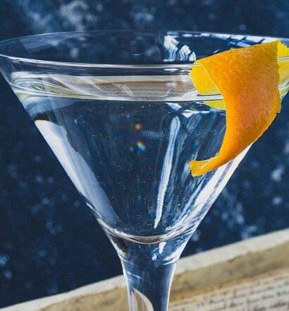 Bluecoat Martini, american memorobilia, declaration in background, featured image