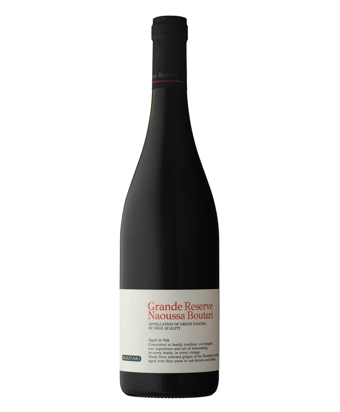 2012 Boutari Grande Reserve Naoussa, bottle on white