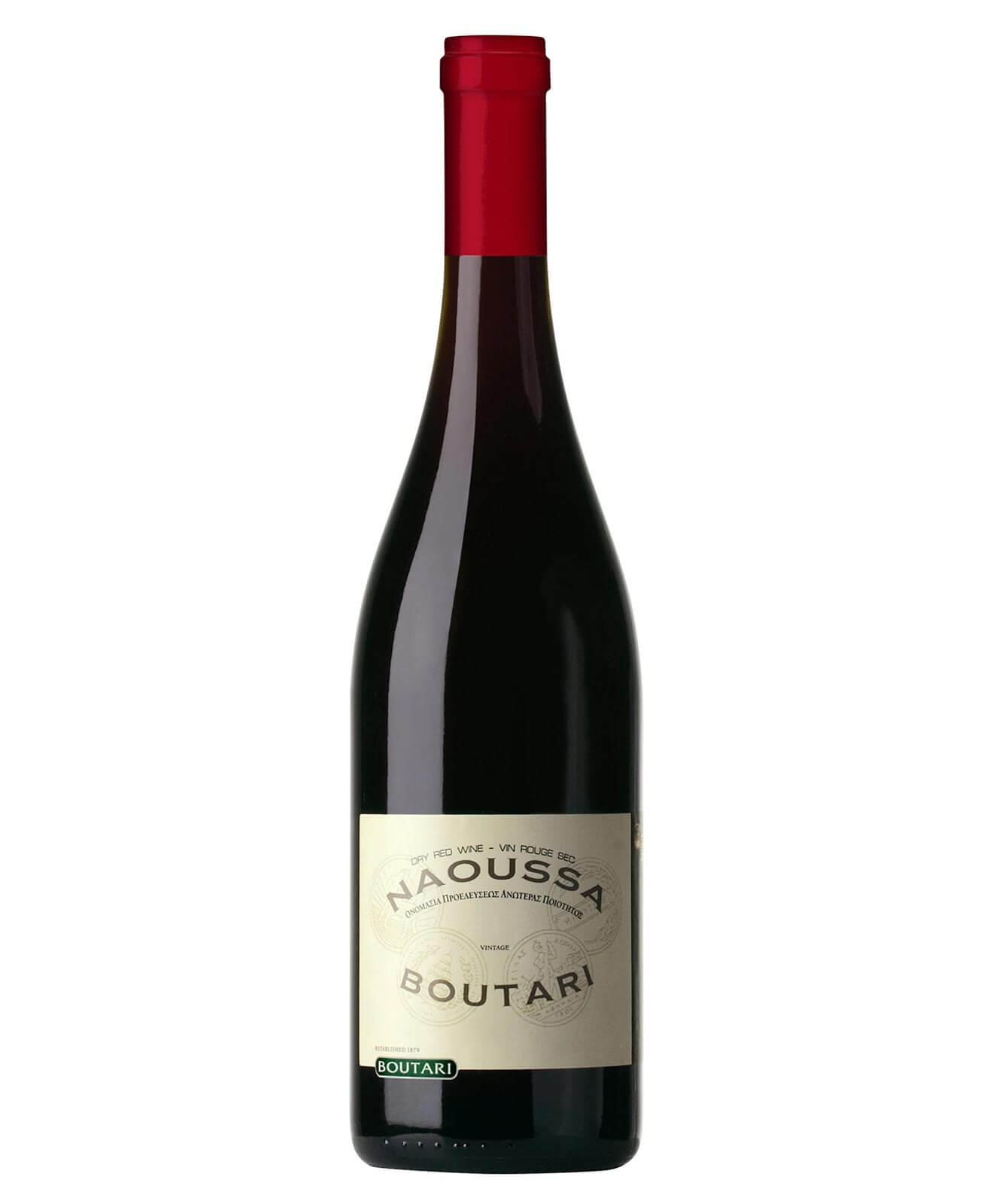 2016 Boutari Naoussa, bottle on white