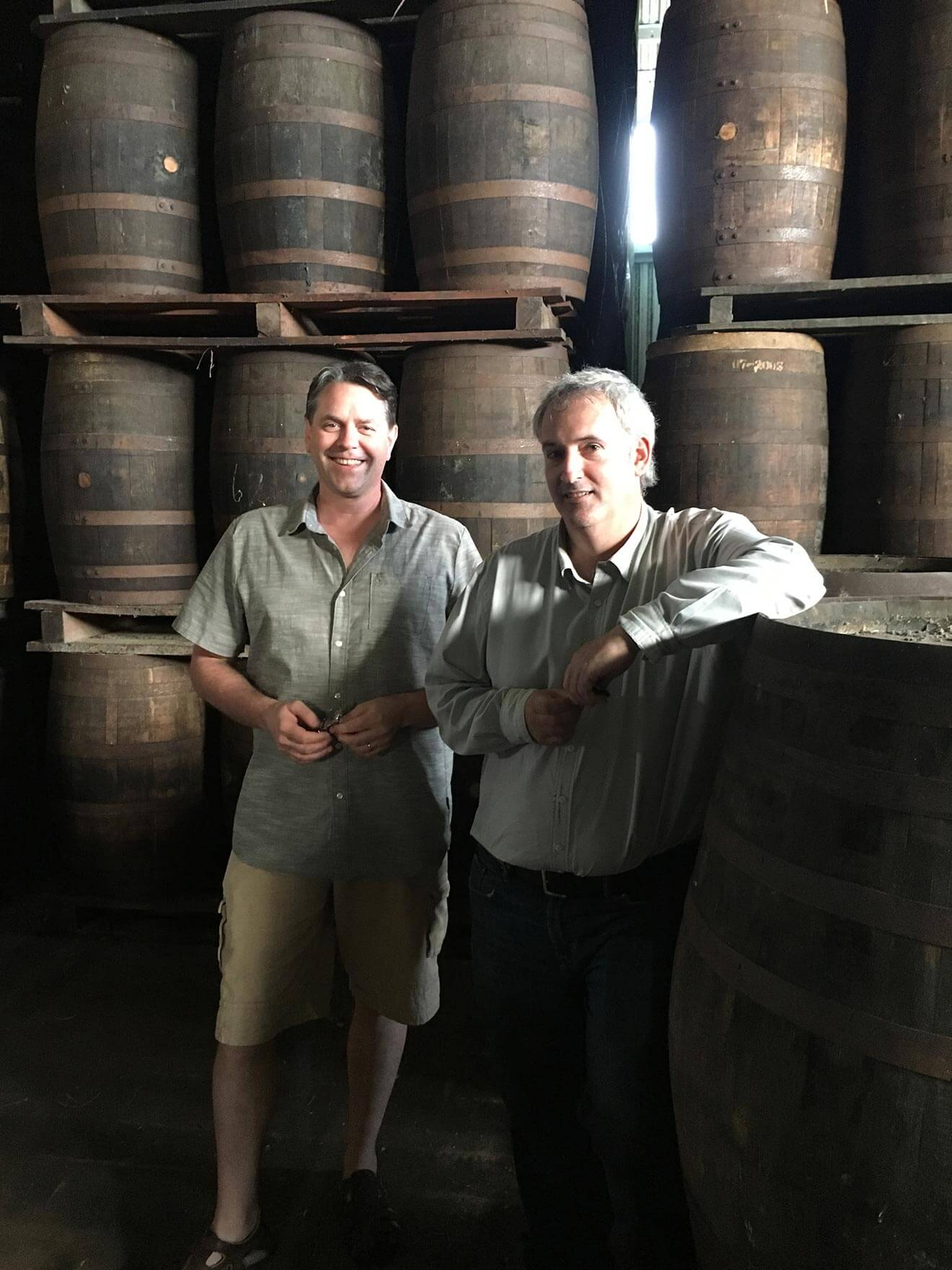 Real McCoy Founder Bailey Pryor and Master Distiller Richard Seale