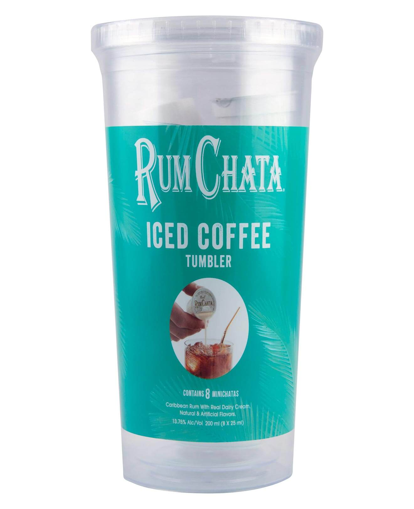 RumChata Iced Coffee Tumbler, product on white back