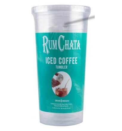 RumChata Iced Coffee Tumbler, product on white back, featured image