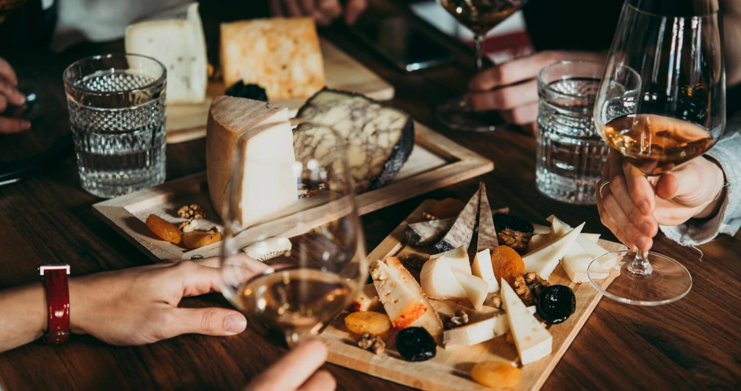 wine and cheese pairings, featured image