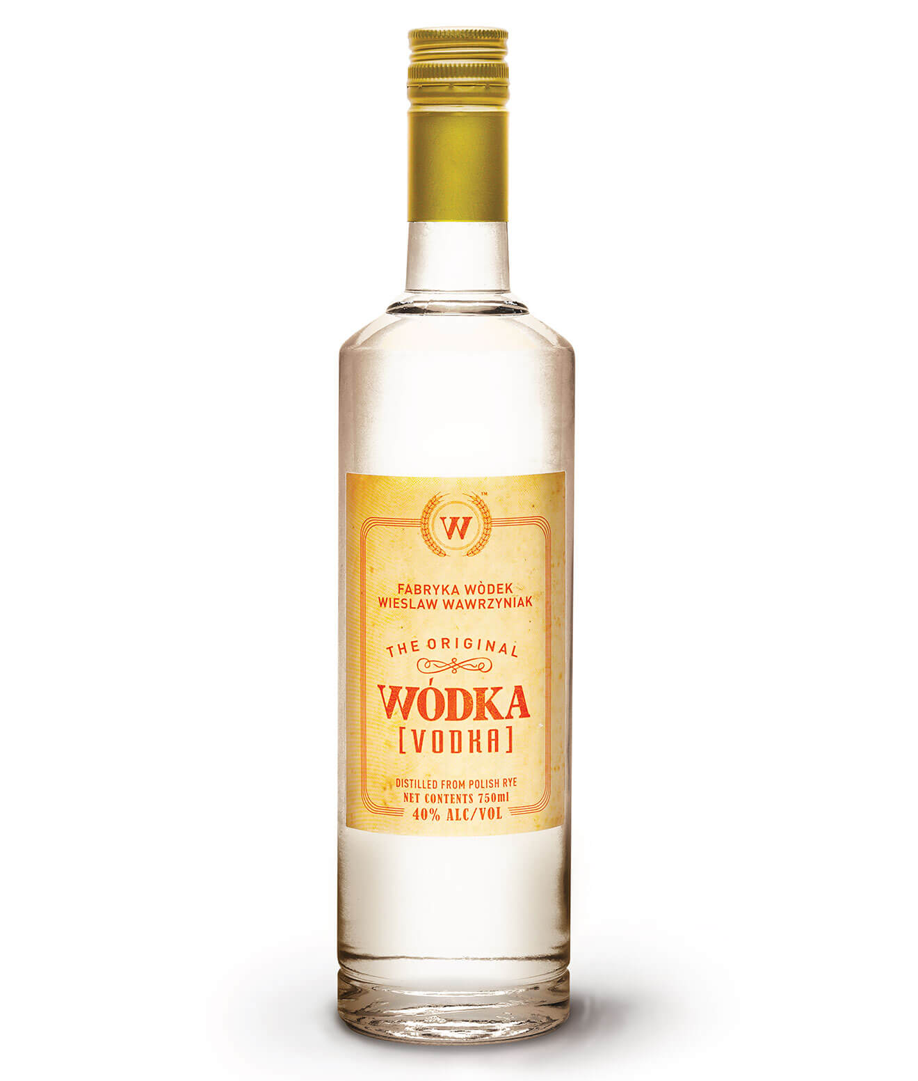Wódka Vodka on white