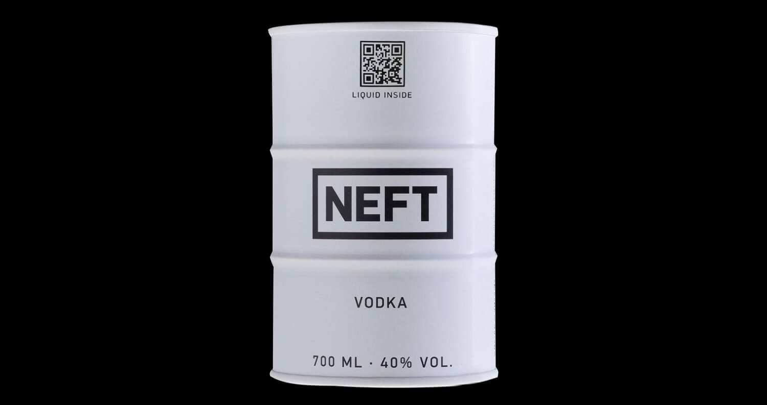 NEFT Vodka, white barrel on black featured image
