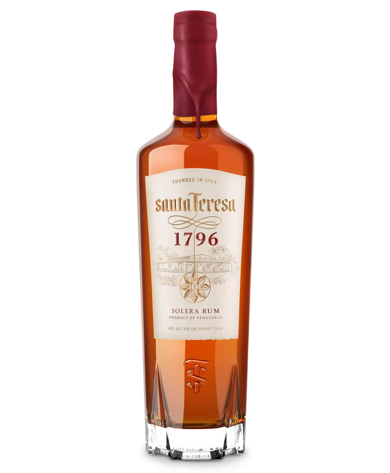 Santa Teresa 1796, bottle on white