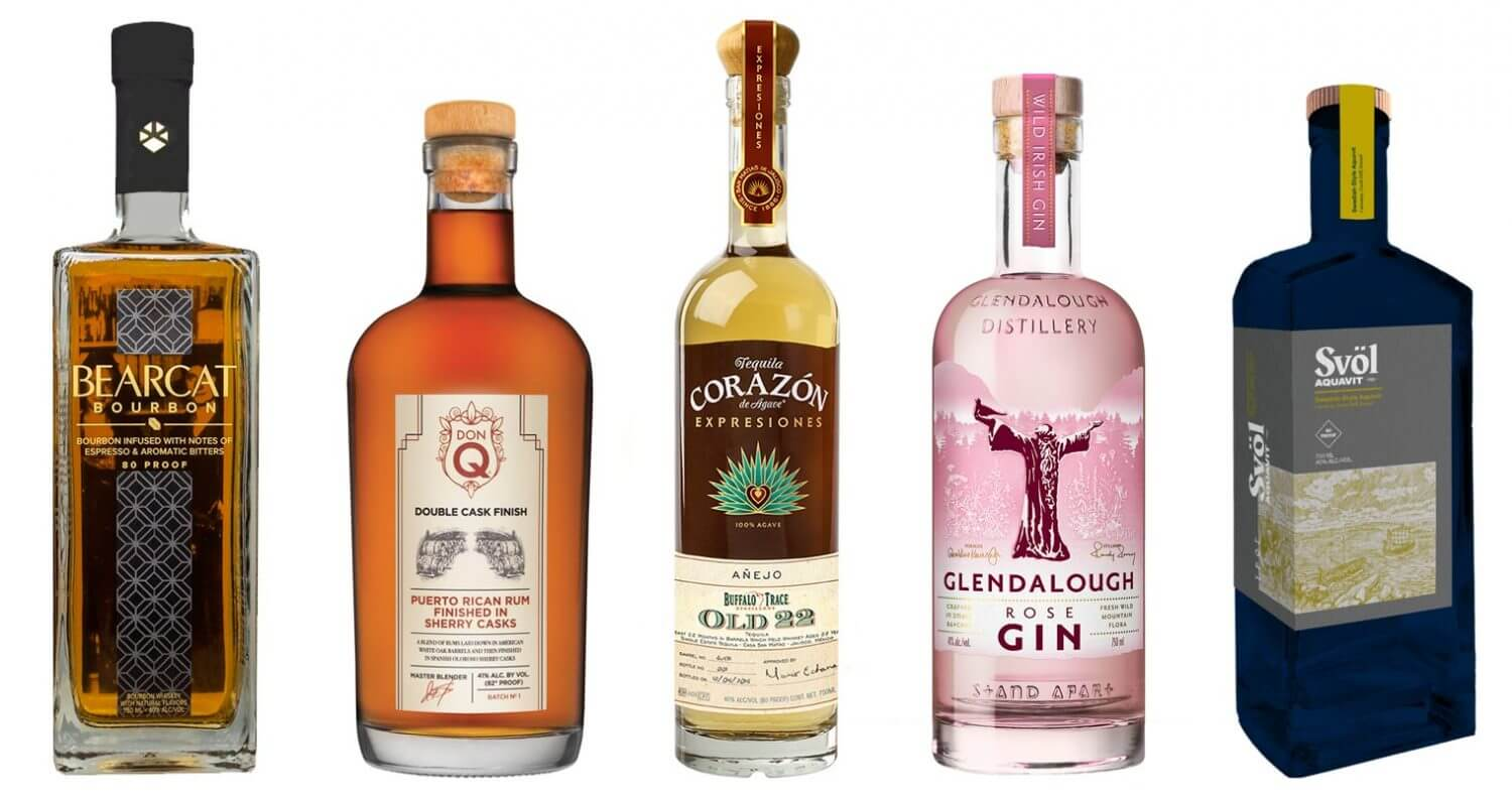 The Best New Spirit Releases From July 2019, bottles on white, featured image