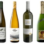 6 Wines to Serve at a German Restaurant, bottles on white, featured image