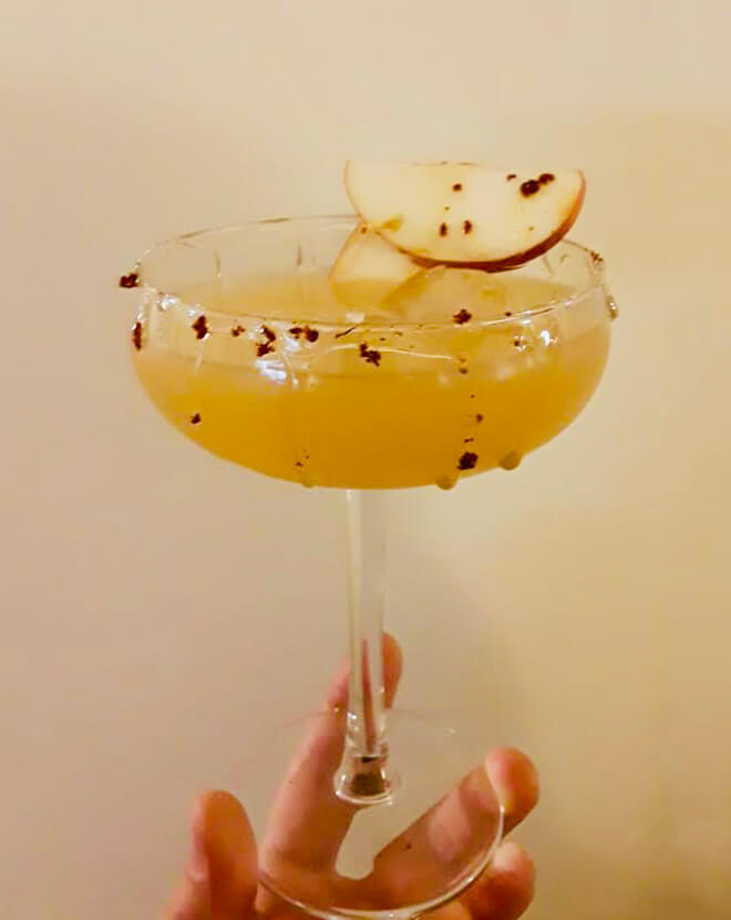 Apple Dream cocktail with garnish
