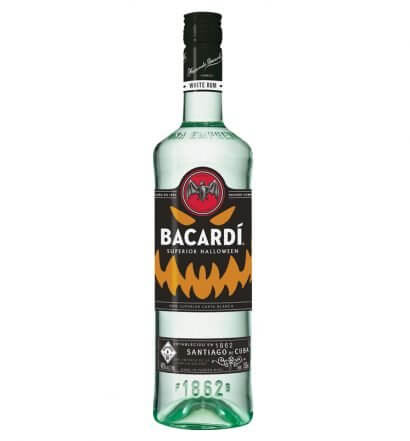 BACARDÍ is Releasing a Limited-Edition Glow in the Dark Bottle, bottle on white, featured image