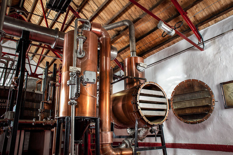 Caorunn Distillery stills room