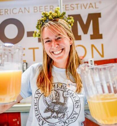 Great American Beer Festival, pretty smile holding pitchers, featured image
