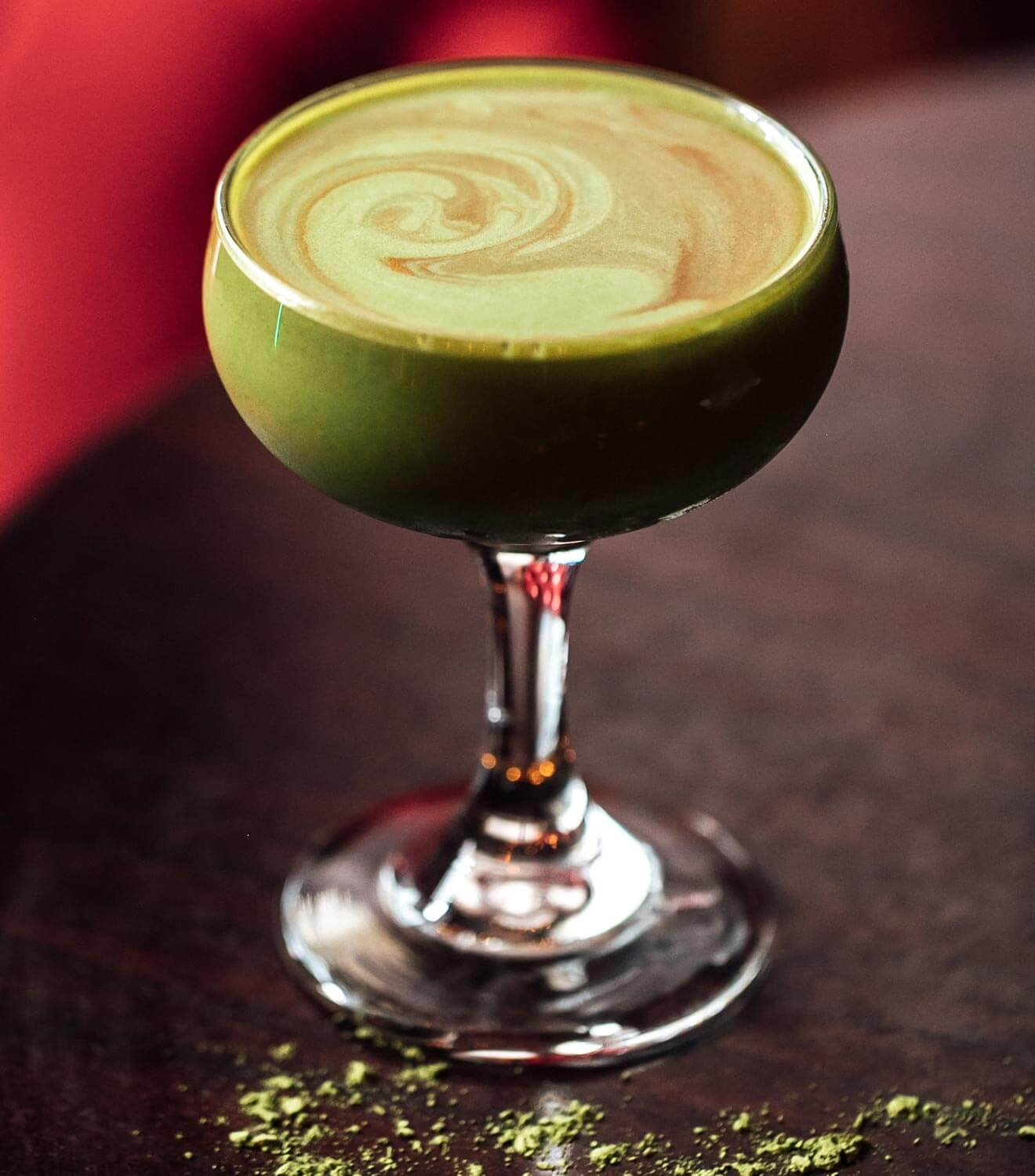 Greenback Boogie cocktail on bar