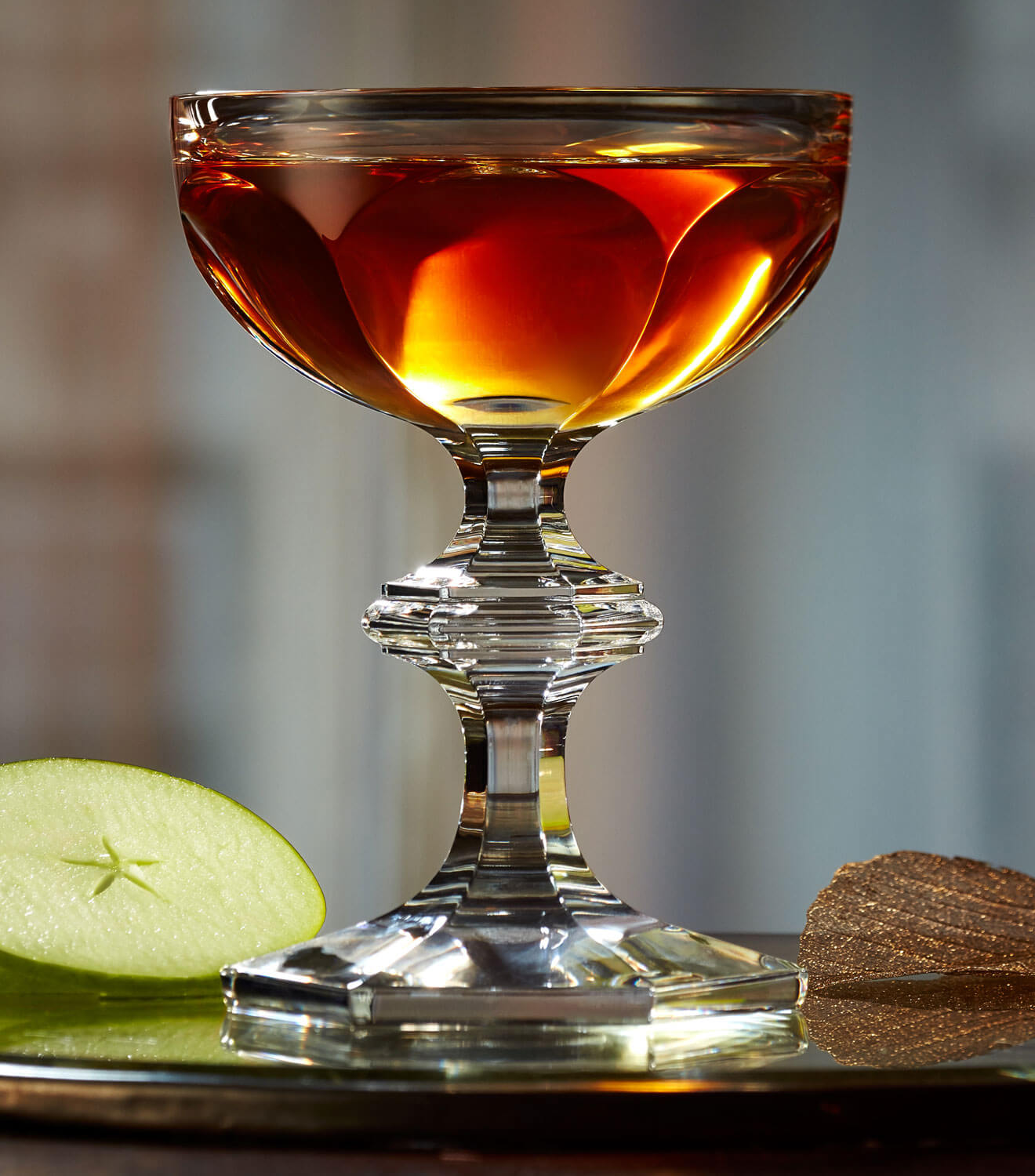 Star of Autumn, cocktail in ornate challise