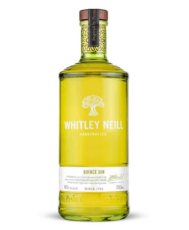 Whitley Neill Quince Gin, bottle on white