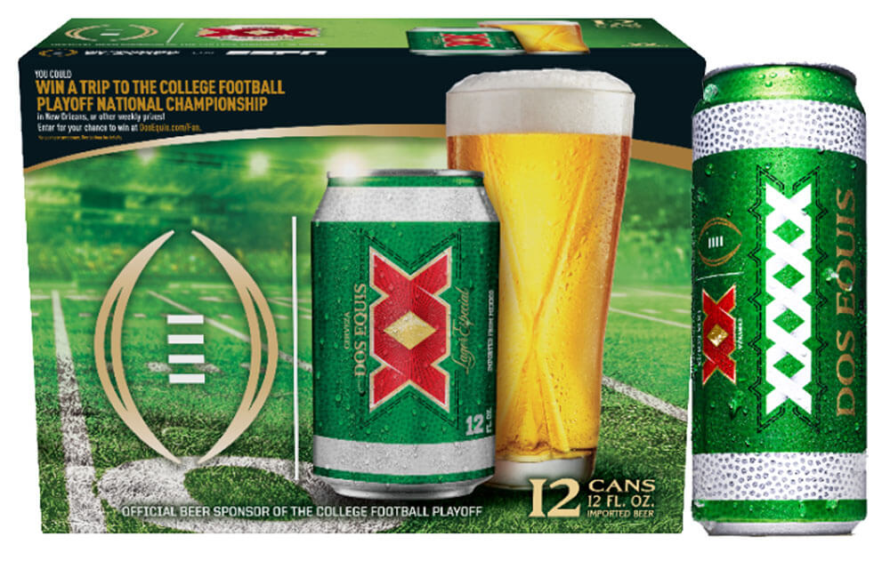 Dos Equis, package with 24 oz can