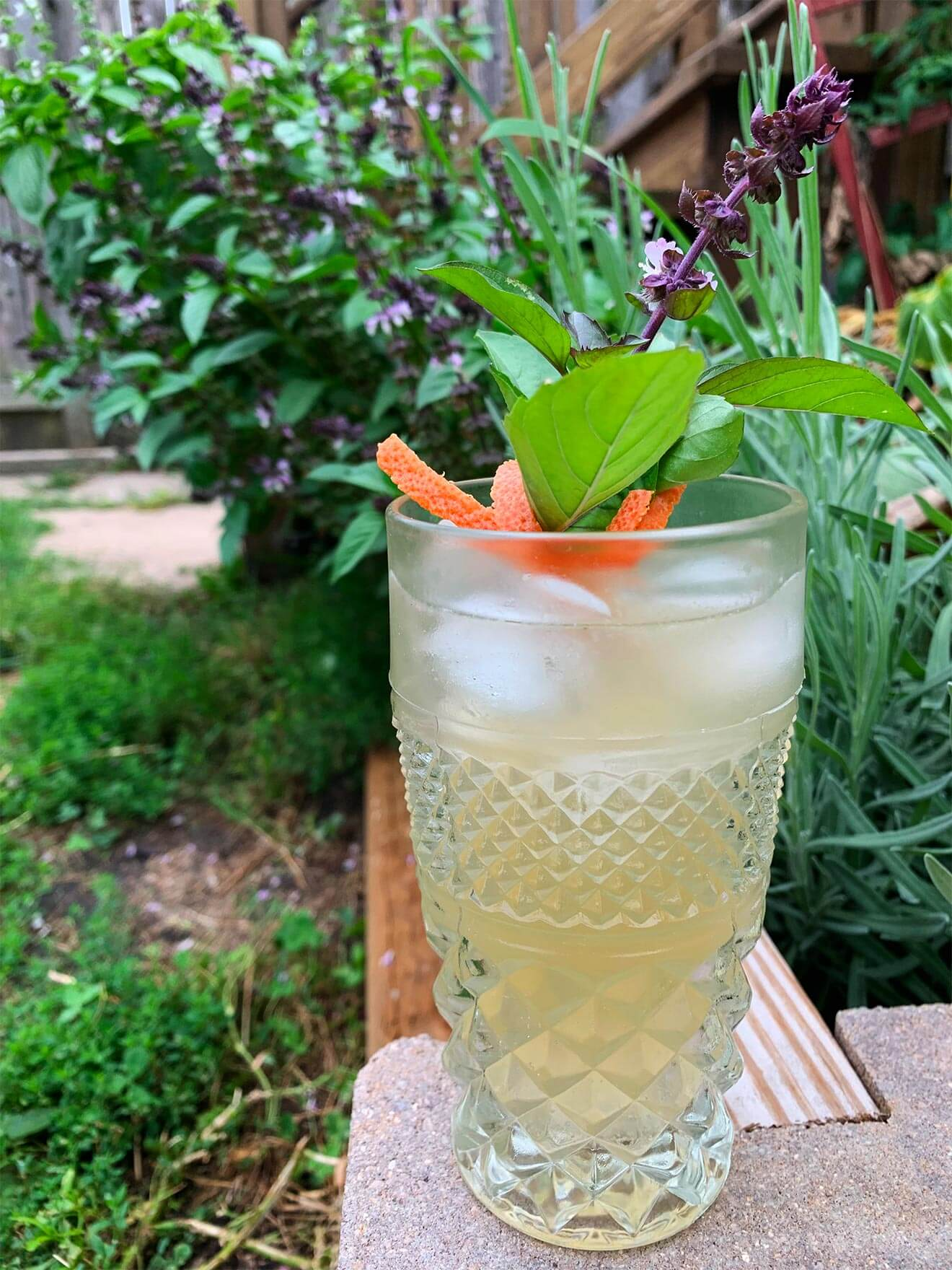 Summer Breeze cocktail with tropical garnish