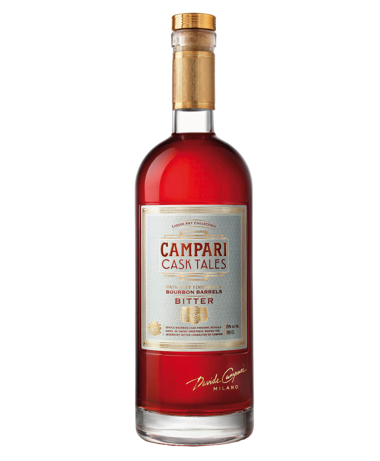 Campari Cask Tales, bottle on white