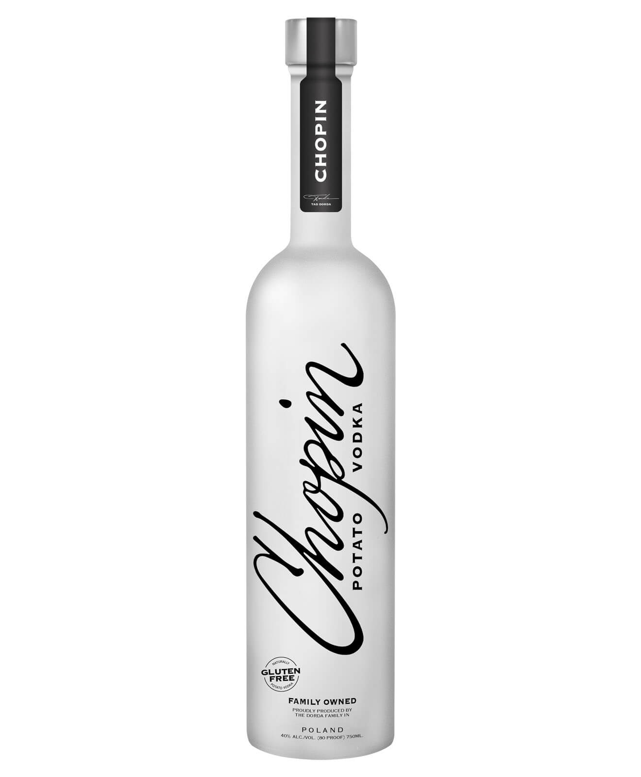 Chopin Potato Vodka, bottle on white