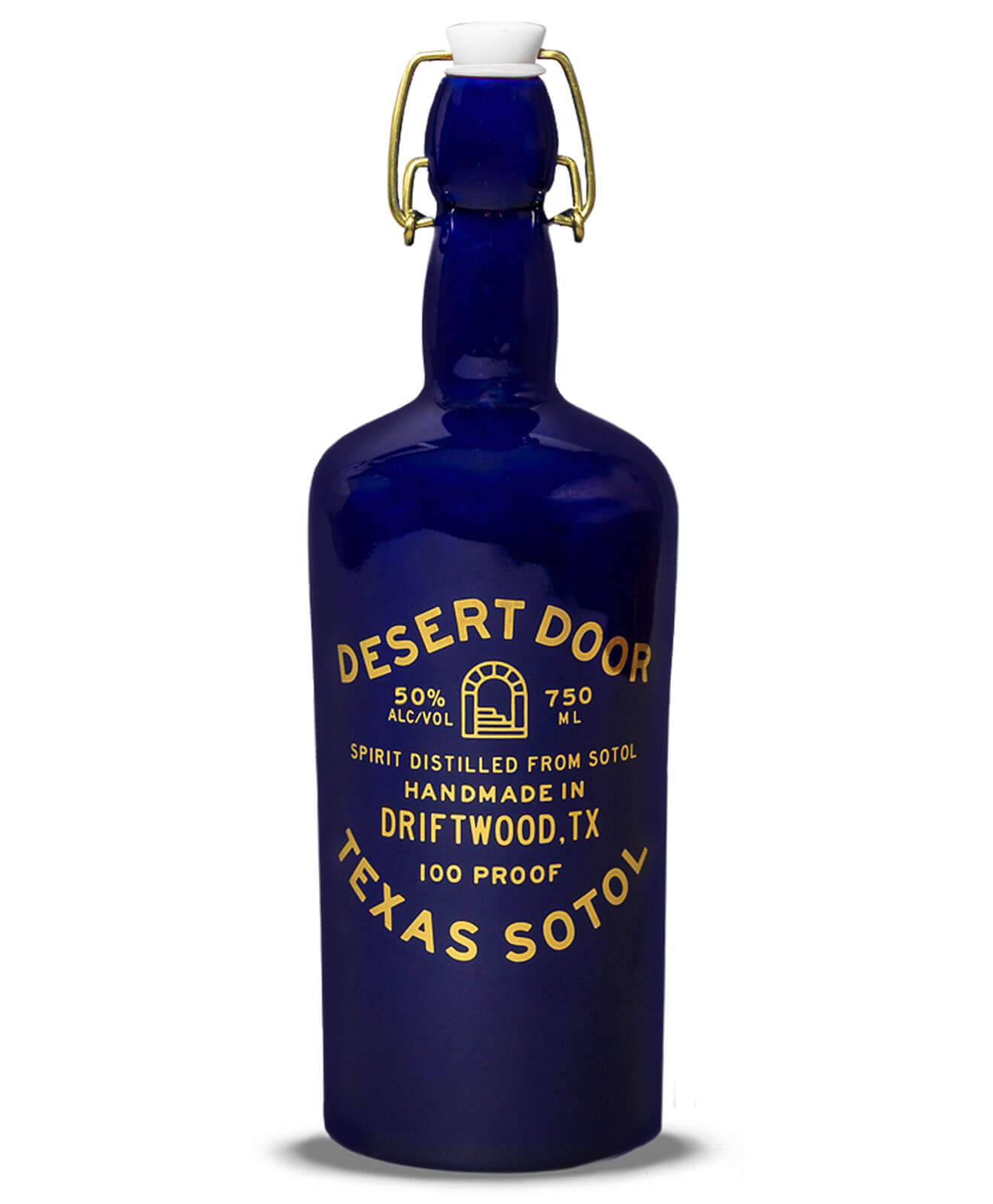 Desert Door Oak-Aged Sotol, bottle on white