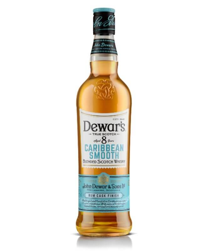 Dewar's Caribbean Smooth, bottle on white