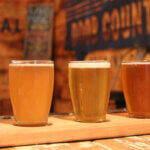 Door County Brewing Company flight, featured image