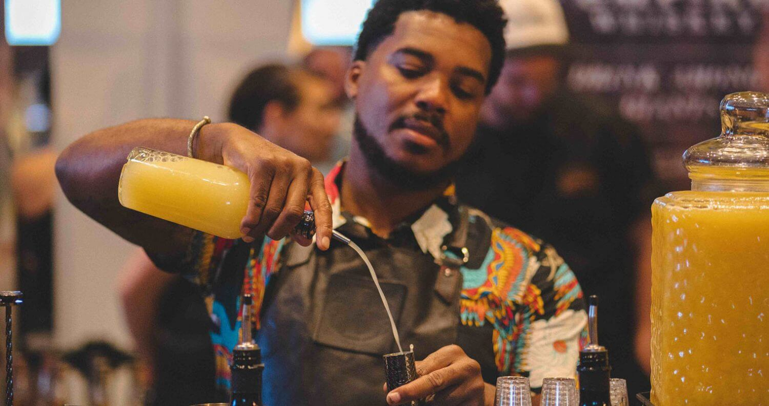 NYCE Brockmans Gin Bartender Serves up Black Cloud Cocktail featured image