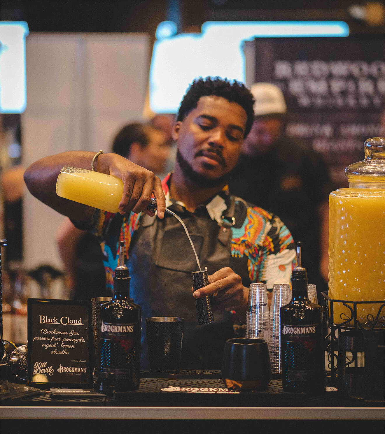 NYCE Brockmans Gin Bartender Serves up Black Cloud Cocktail