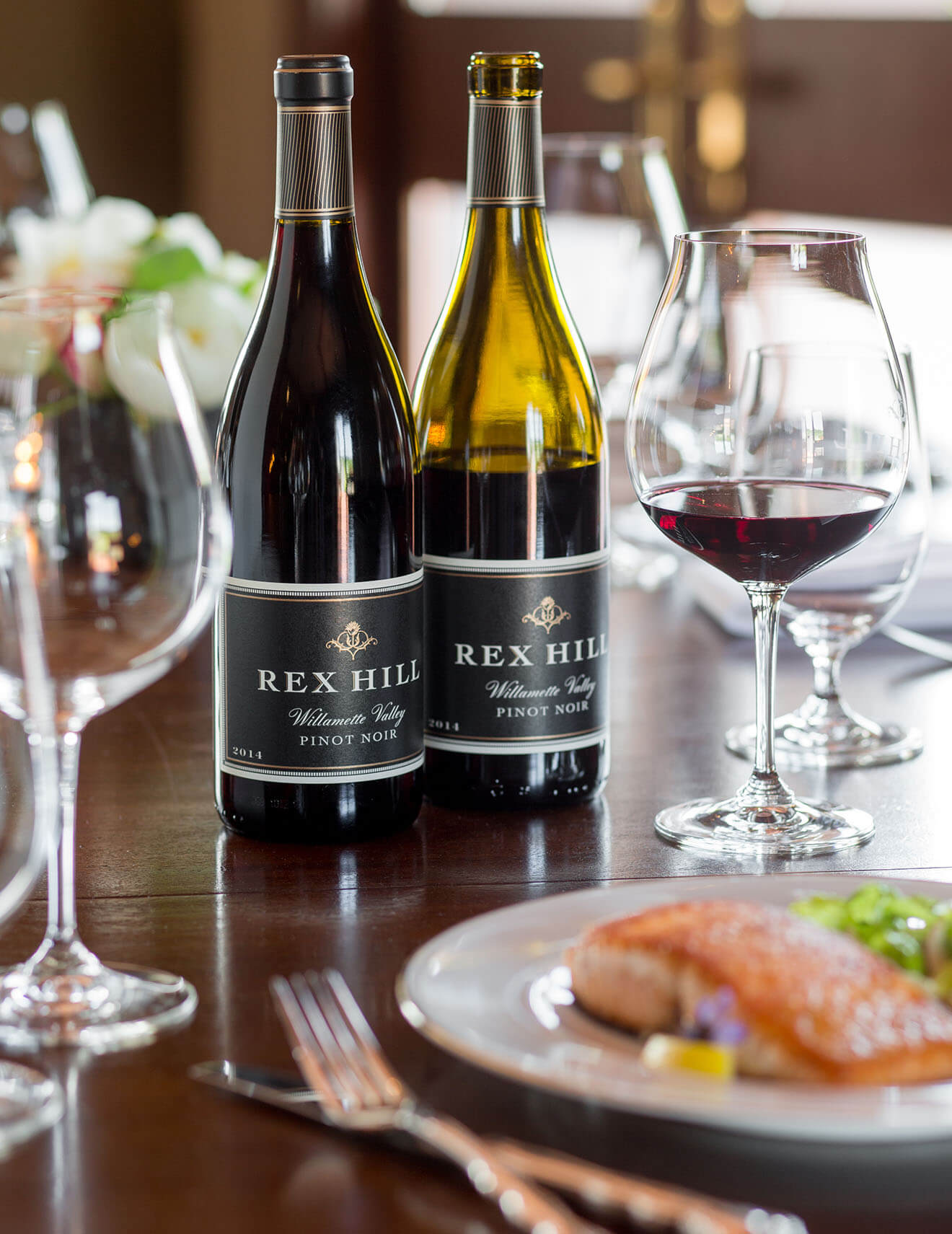 Rex Hill Pinot Noir Paired with Salmon