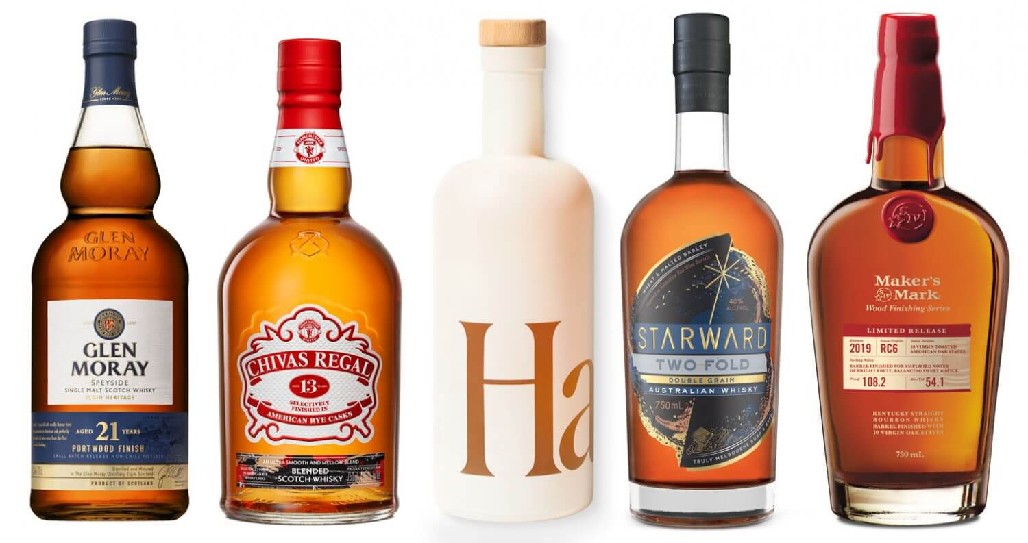 Best October Spirits 2019, bottles on white, featured image