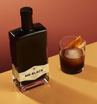 Cold Fashioned Cocktail, bottle and drink, featured image