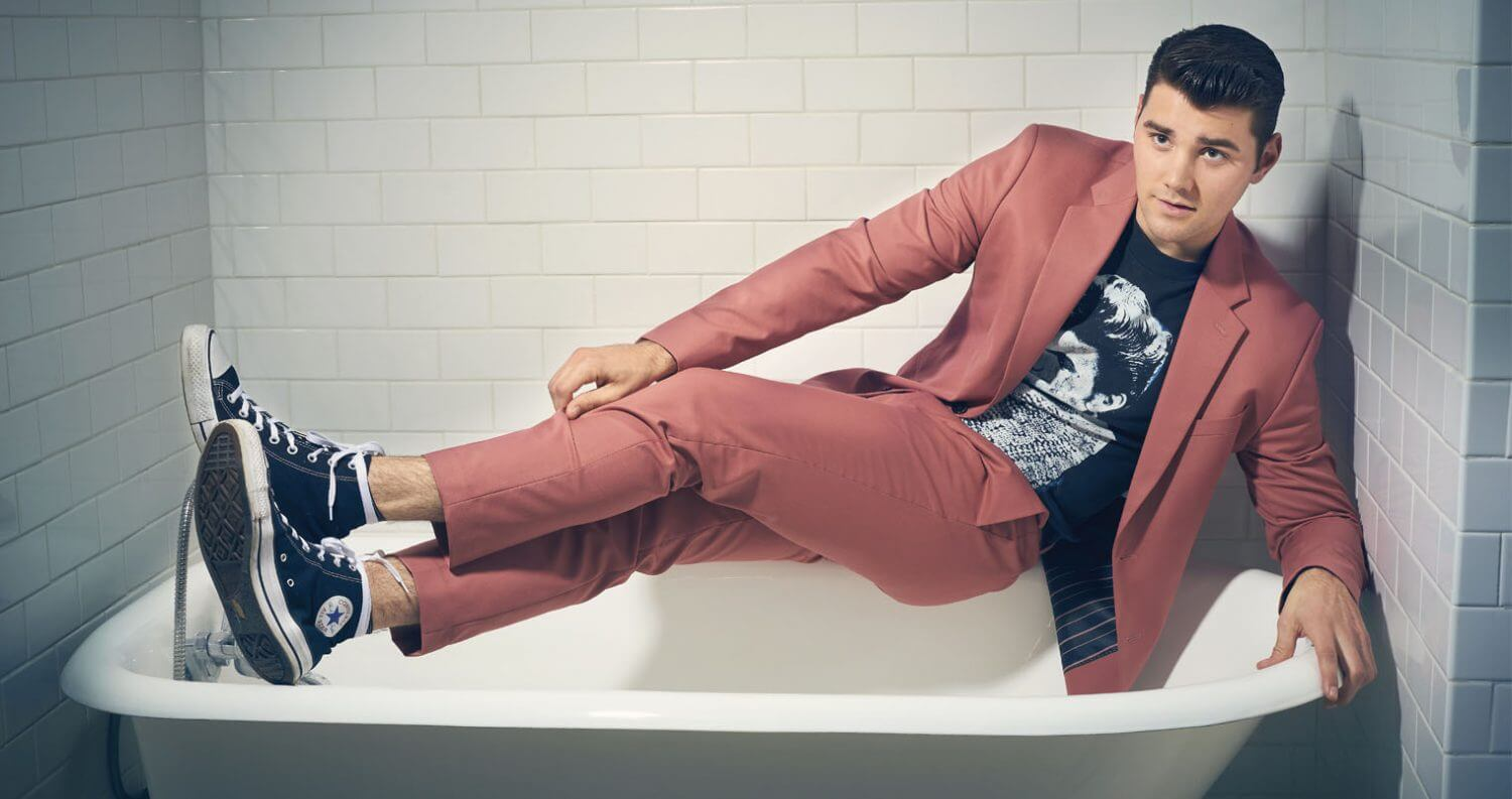 Chillin' with JT Neal, bathtub, pink suit, featured image