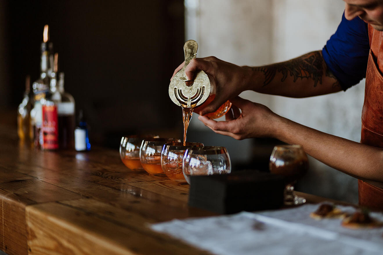 Marcelo Barredo Making His Winning Cocktail