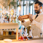 Valentino Longo shaking a cocktail, featured image