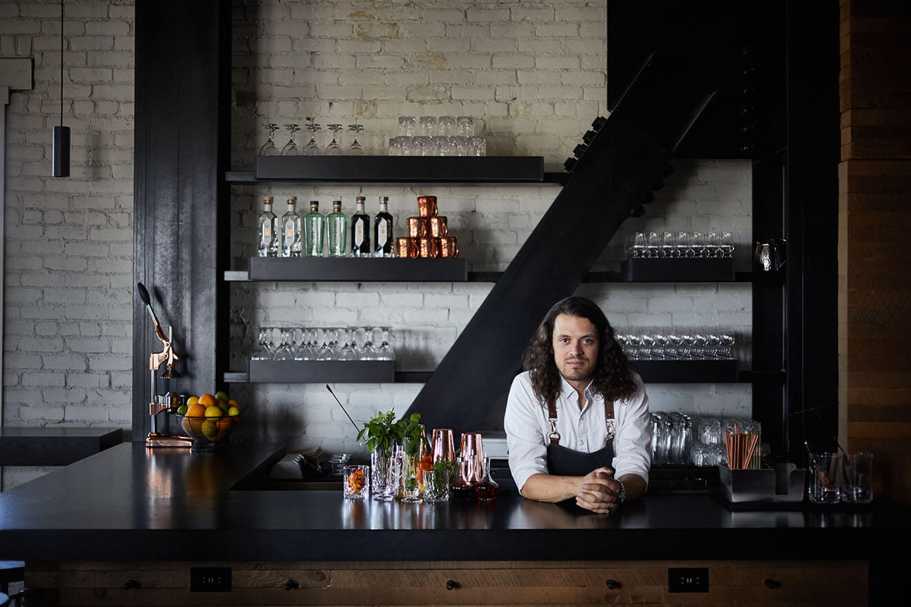 Lucas Huff @thebartendersfable, Bently Heritage Estate Distillery's director of events & mixology