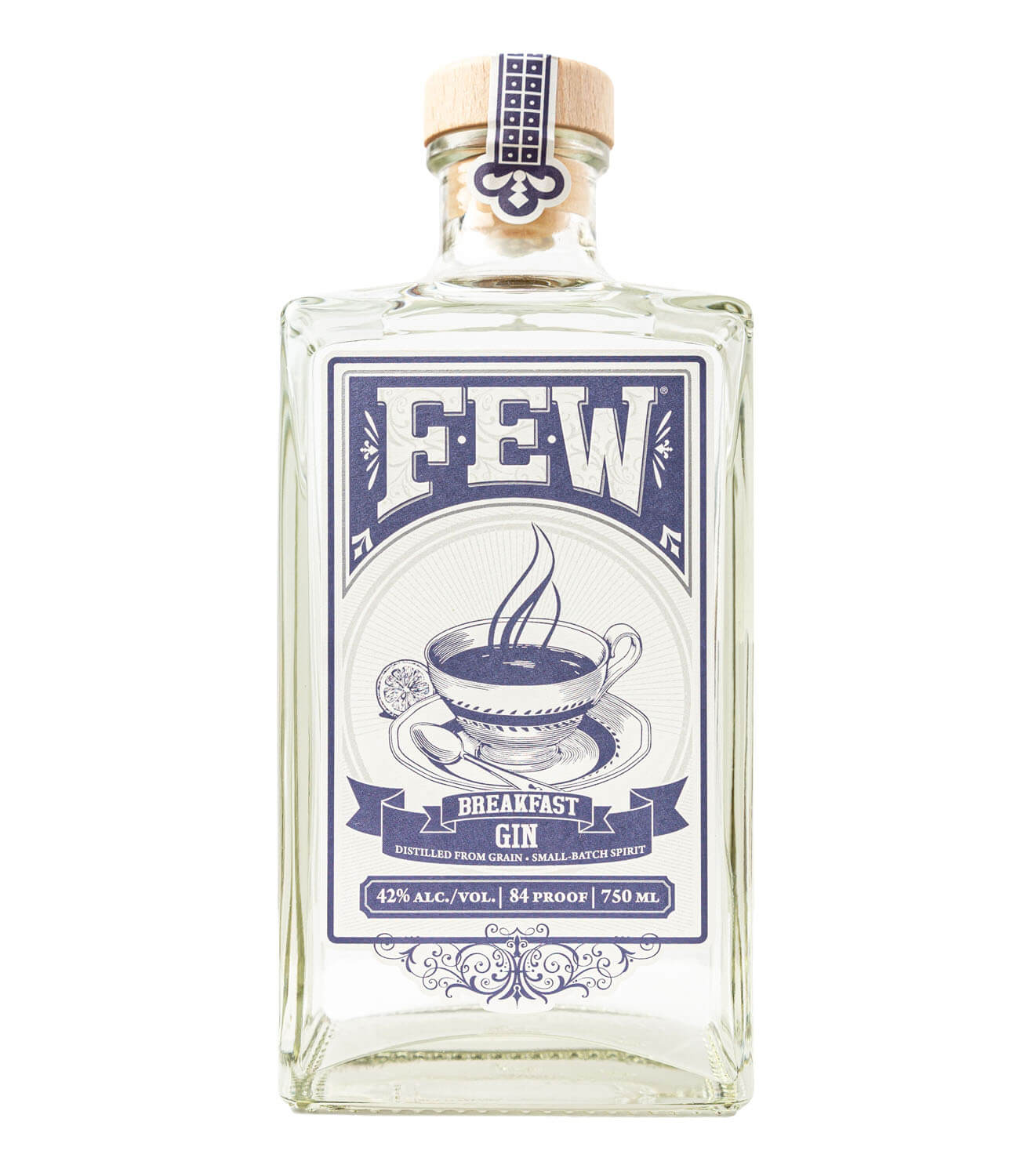 FEW Spirits Barrel Gin, bottle on white