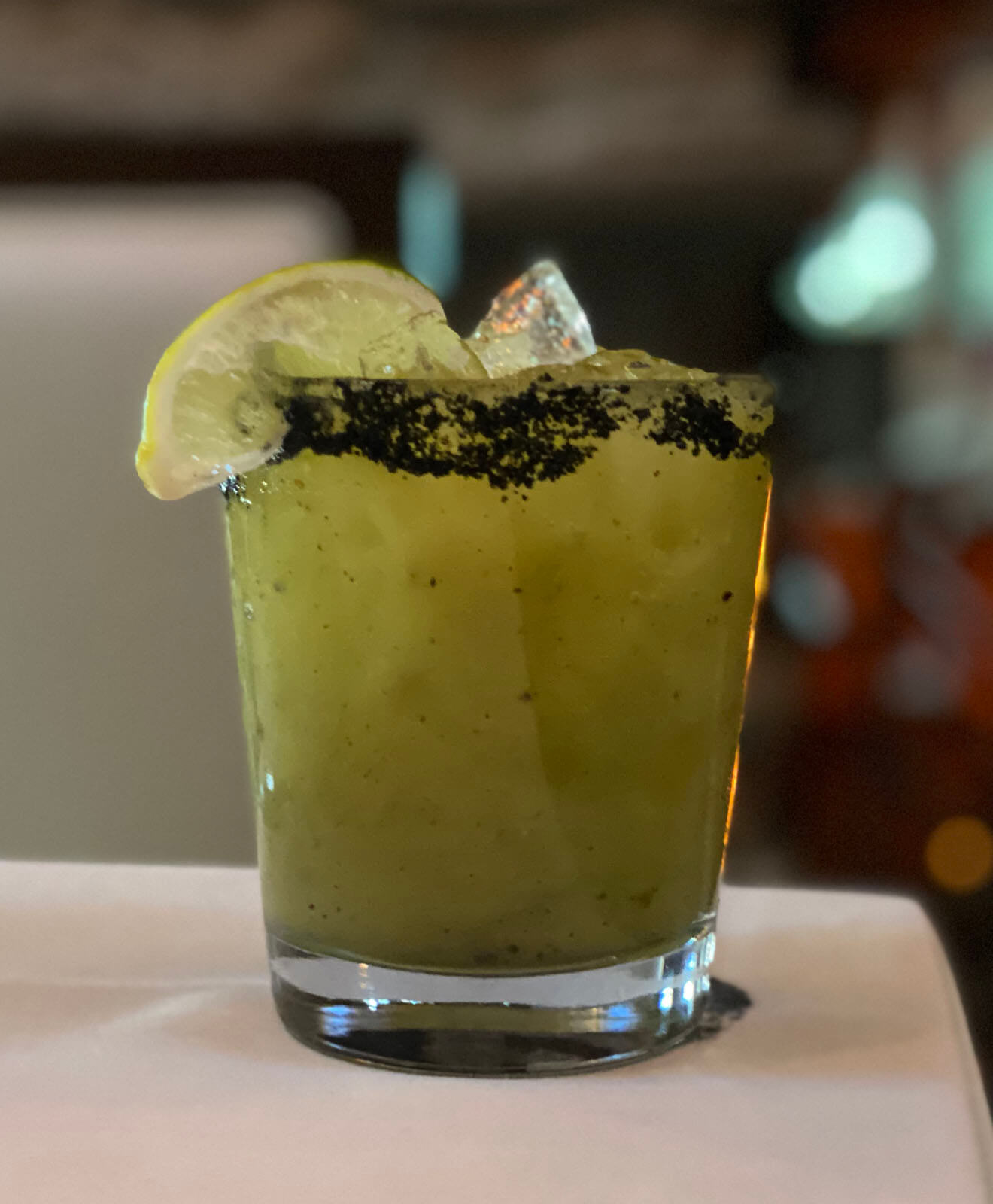 Smoked Jalapeno and Kiwi Margarita