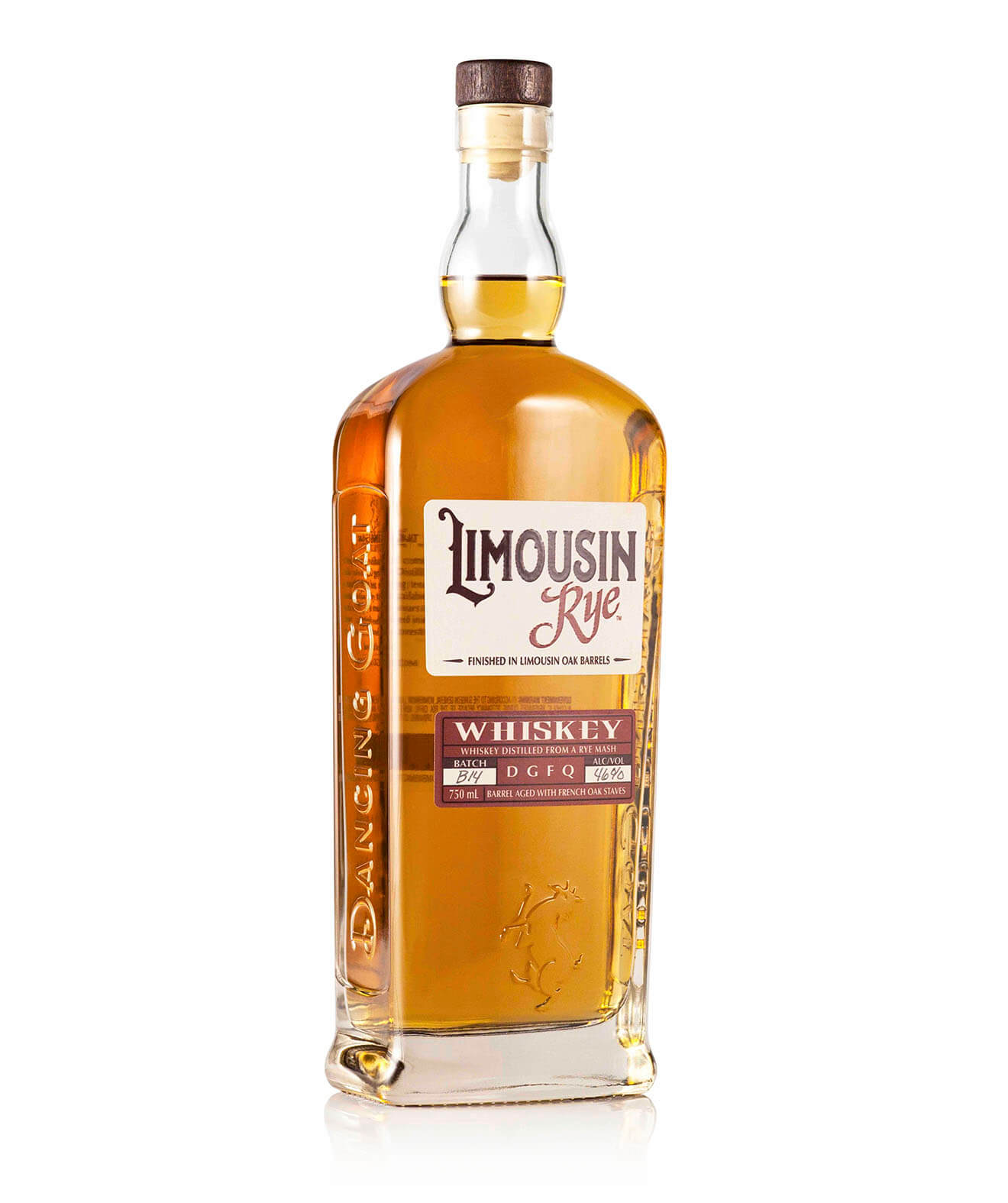 Limousin Rye, bottle on white