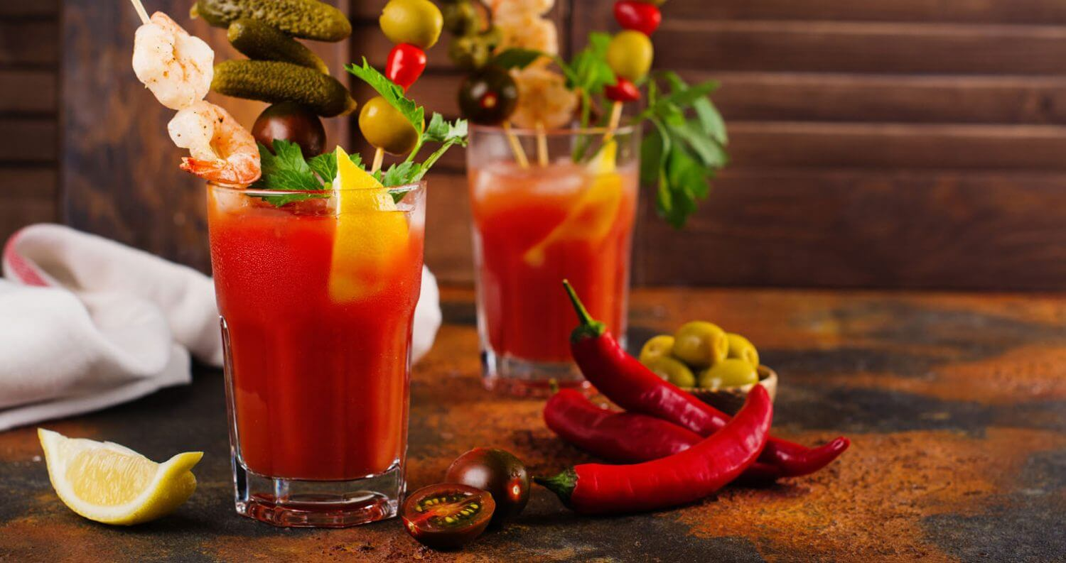 Bloody Mary, cocktails with garnish, featured image